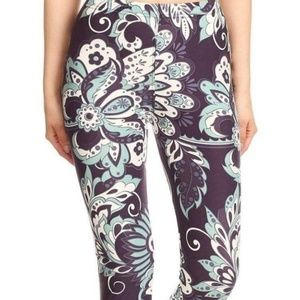 Pants - Purple paisley leggings
